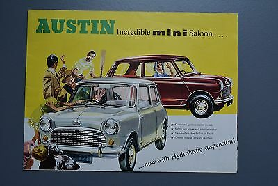 Vintage Brochure: Austin Mini Saloon Fold Out Poster Art Type No.2286D BMC