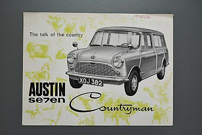 Vintage Brochure: Austin Mini Seven Countryman Estate  1960 No1883