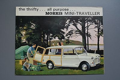 Vintage Brochure: Morris Mini Traveller 1965 No.H&E 6505/B Estate Art Poster