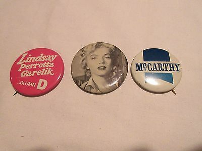 Pins, Novelty,Mixed Lot of 3, ANTIQUE,VINTAGE,RARE,COLLECTIBLE , Marilyn Monroe