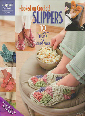 Hooked On Crochet Slippers by Annies Attic