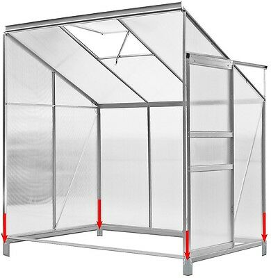 Greenhouse Home Hothouse Lean Patio Greenhouse Garden Aluminium Foundation