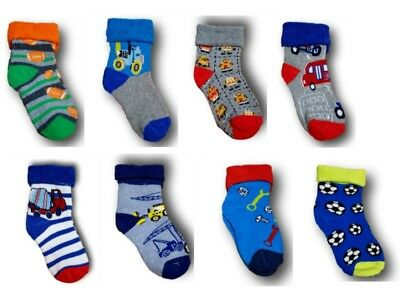 Baby Boys Toddler Terry Cotton Winter Socks, Size 3-6m, 6-12m, 12-18m, 2-3years