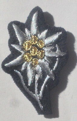 German Army Officers Waffen Edelweiss For Cap