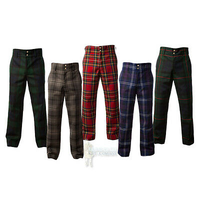 Men's Trousers - Scottish Tartan Trews - Range Of Tartans/plaids & Sizes!