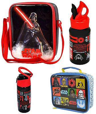 Star Wars School Lunch Bag Insulated Kids Box Food Pack Lunchbox & Bottle Set
