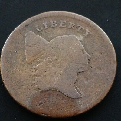 1795 Liberty Cap Half Cent nice coin genuine early 1/2 Cent