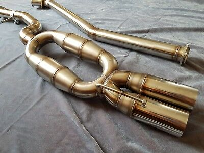 BMW E46 320D stainless steel 60mm straight pipe exhaust