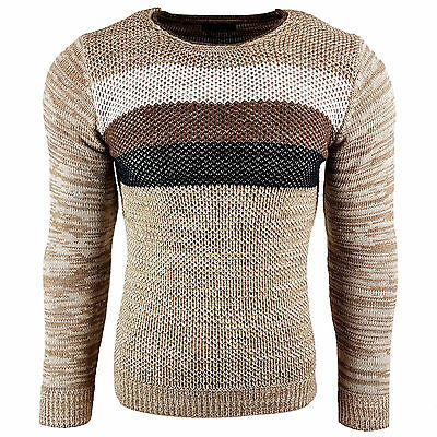 Subliminal Mode - Pull Over Col arrondi Homme Tricot SB-6272 Grosse Maille