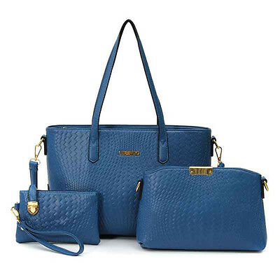 Women Elegant Bags Vintage Totes Shoulder Bags Crossbody Bags Clutches 3 Pcs