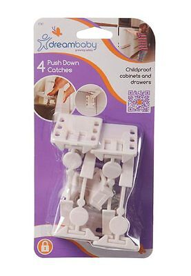 Dreambaby Toddler Safety Push Down Draw Catches 4 pack