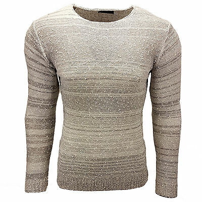 Subliminal Mode - Pull Over Chiné Homme Tricot SB-6245 Grosse Maille