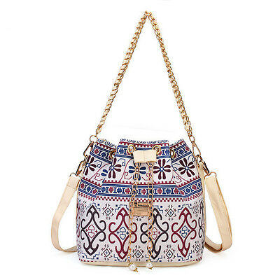 Women Chain Bucket Bags Bohemia Style Shoulder Bags Crossbody Bags