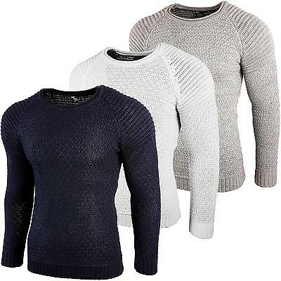 Subliminal Mode - Pull Over Col arrondi Homme Tricot SB-6240 Grosse Maille