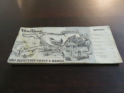 1965 Mustang Owners Manual Collectible Vintage Pamphlet
