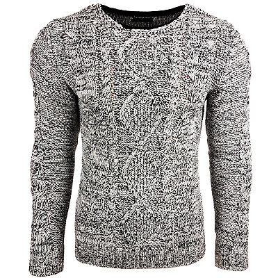 Subliminal Mode - Pull Over Chiné Homme Tricot SB-6234 Grosse Maille