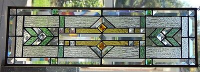 Stained Glass window hanging 27 X 8 1/2