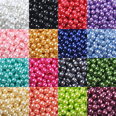 Wholesale Czech Glass Pearl Round Spacer Loose Beads 4mm/6mm/8mm