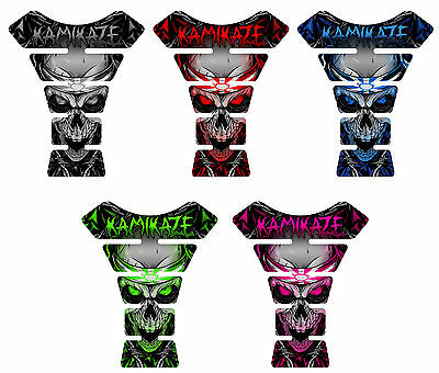 Kamikaze Motorcycle 3D Gel Gas Tank Pad Protector Tankpad Sportbike Decal Guard