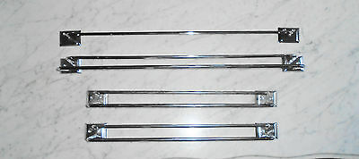 Vintage Mid Century Mod Chrome Double & Single Towel Bars Rack Holder 18&24inch