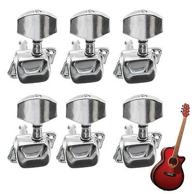 Acoustic Guitar String Semiclosed Tuning Pegs Tuners Machine Heads 3Lx3R Chrome