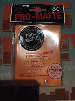 Ultra Pro Pro-Matte Standard Sleeves (50) - Orange #ultrapro