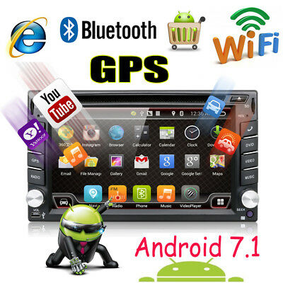 "Doppel 2Din 6.2"" Android Autoradio 4.4 Auto GPS NAVI DVD Player BT RDS USB+WIFI"