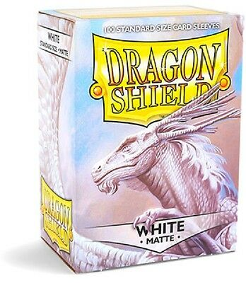 Dragon Shield Sleeves Standard (100) - Matte White #dragonshield