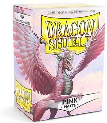 Dragon Shield Sleeves Standard (100) - Matte Pink #dragonshield