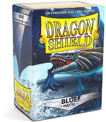 Dragon Shield Sleeves Standard (100) - Matte Blue #dragonshield
