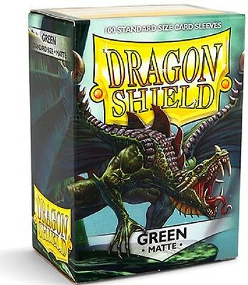 Dragon Shield Sleeves Standard (100) - Matte Green #dragonshield