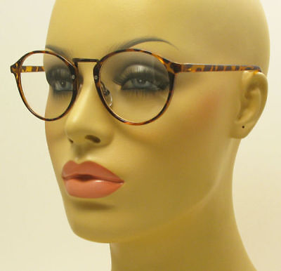 Vintage Inspired Clear Lens Small Circle Round Glasses