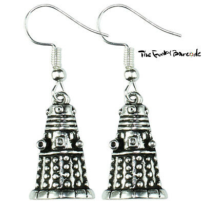 TFB - DALEK DANGLE EARRINGS Novelty Cool Retro Geek Funky Cute Kitsch Emo Doctor