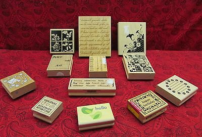 HUGE LOT of 12 MOUNTED RUBBER STAMPS -Victorian, Lady, Vintage, Floral, Poetry +