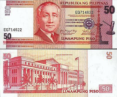 PHILIPPINES 50 PISO 2009 UNCIRCULATED P.193b SIGN 18