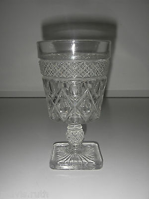 """Imperial Glass CAPE COD Clear Low Water Goblet 5½"""""""