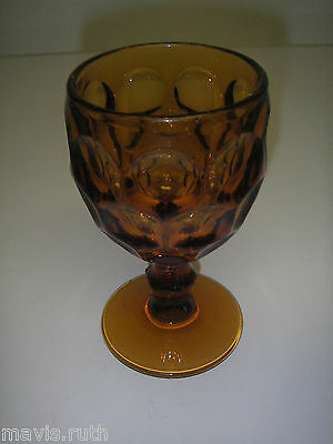 "Imperial Glass PROVINCIAL Amber Water Goblet 5 3/8"" Elegant Glassware"