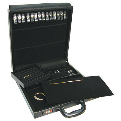 Large Jewelry Travel Attache Presentation Display Case Carrying Jewelers Storage