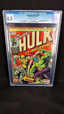 Marvel The Incredible Hulk #181 First Wolverine CGC 4.5