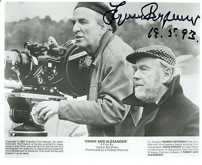 INGMAR BERGMAN - Signed B/W photograph from the film Fanny and Alexander