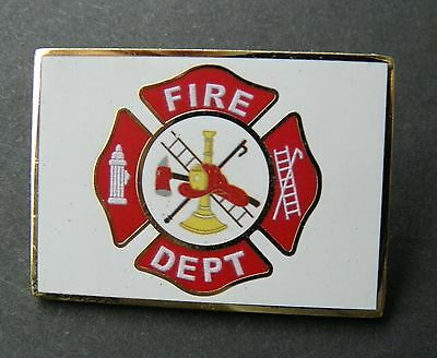Fire Dept Firefighter Flag Shield Lapel Pin Badge 1.5 Inches