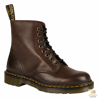 Dr. Martens Unisex Pascal 8 Eye Lace Up Genuine Soft Leather Boots Shoes Doc New