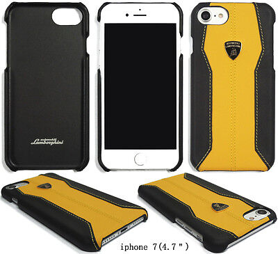 Lamborghini Huracan-D1 Yellow Leather Back Cover for iPhone 7/8(4.7)