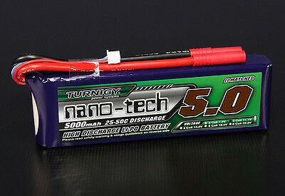 RC Turnigy nano-tech 5000mah 3S 25~50C Lipo Pack