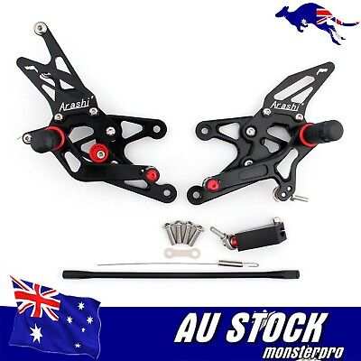 Motorcycle Rearset Rear Set Foot Pegs For Yamaha YZF R1 2007 2008 07 08 Black