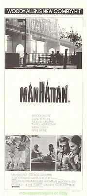 Manhattan Movie Poster Australian Db Mint - Woody Allen