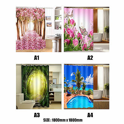 3D Fashion Pattern Bathroom Fabric Shower Curtain Home Decoration Waterproof