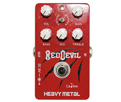 """Caline CP-30 """"Red Devil"""" Heavy Metal Effects Pedal"""