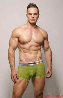 Sexy Boxer Slip Pride USA Verde tg. M Push Up Intimo Uomo Fashion GLAMOUR !