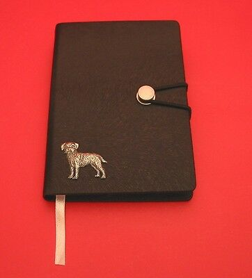 Border Terrier Motif A6 Black Soft Touch Journal Father Mothers Useful Xmas Gift